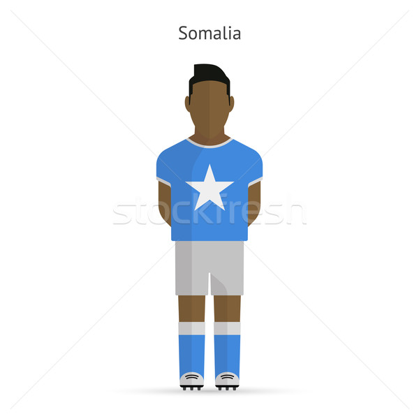 Somalia football player. Soccer uniform. Stock photo © tkacchuk