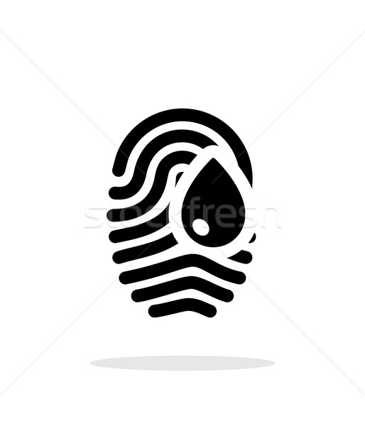 Damage fingerprint icon on white background. Stock photo © tkacchuk