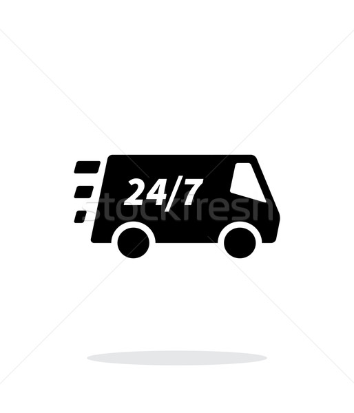 Delivery day and night support icon on white background. Stock photo © tkacchuk