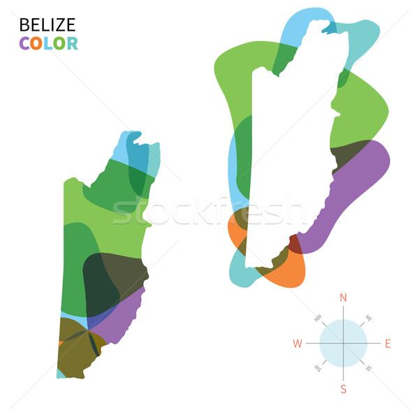 Absztrakt vektor szín térkép Belize átlátszó Stock fotó © tkacchuk