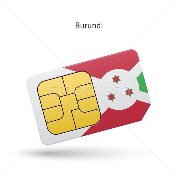Бурунди мобильного телефона карт флаг бизнеса дизайна Сток-фото © tkacchuk