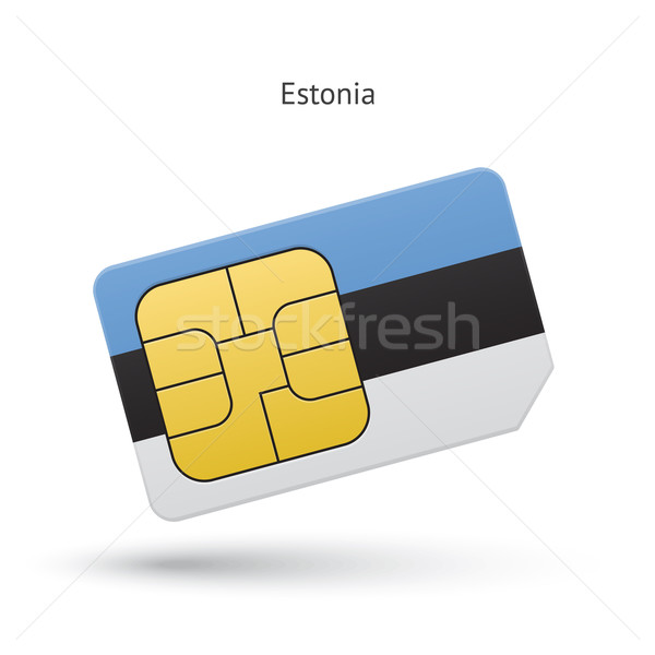 Estonia mobile phone sim card with flag. Stock photo © tkacchuk