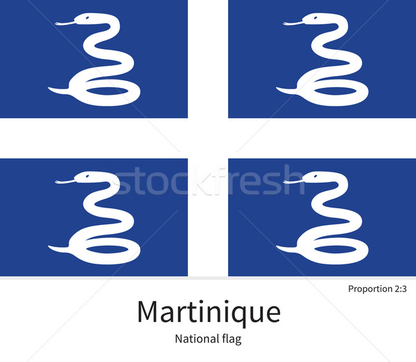 National flag of Martinique with correct proportions, element, colors Stock photo © tkacchuk
