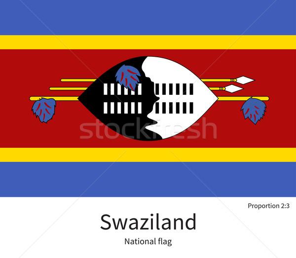 Flagge Swaziland korrigieren Element Farben Bildung Stock foto © tkacchuk