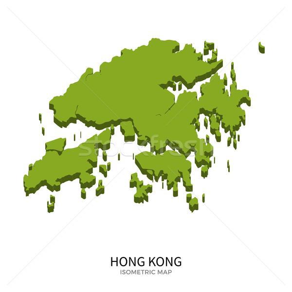 Isometric map of Hong Kong detailed vector illustration Stock photo © tkacchuk