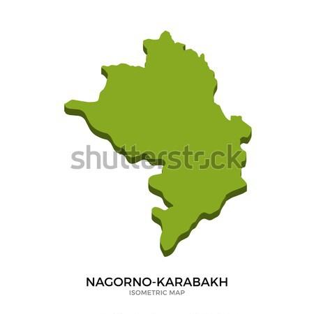 Isometric map of Nagorno-Karabakh detailed vector illustration Stock photo © tkacchuk