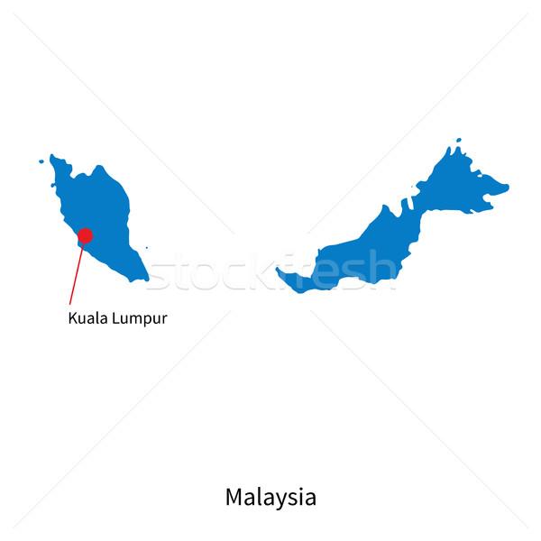 詳しい ベクトル 地図 マレーシア 市 クアラルンプール ストックフォト © tkacchuk