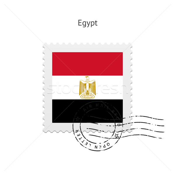Egypt Flag Postage Stamp. Stock photo © tkacchuk