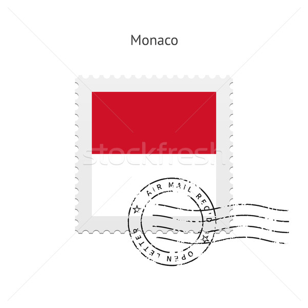 Monaco Flag Postage Stamp. Stock photo © tkacchuk