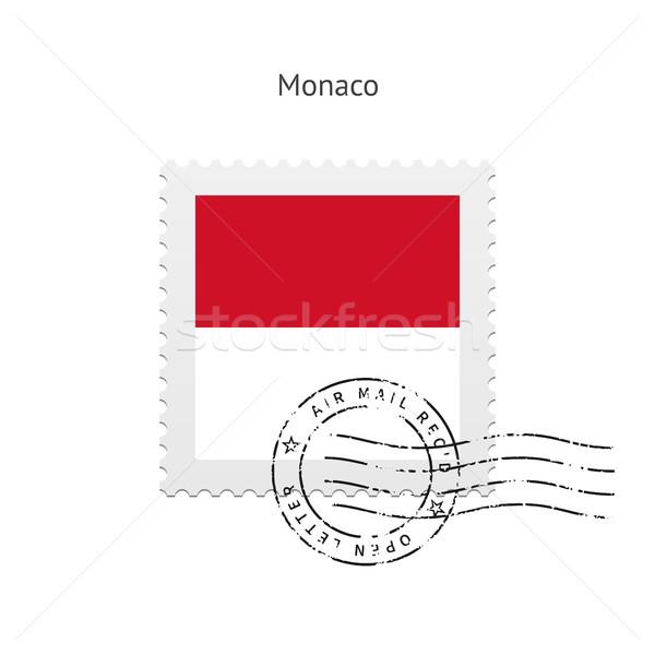 Монако флаг почтовая марка белый знак письме Сток-фото © tkacchuk