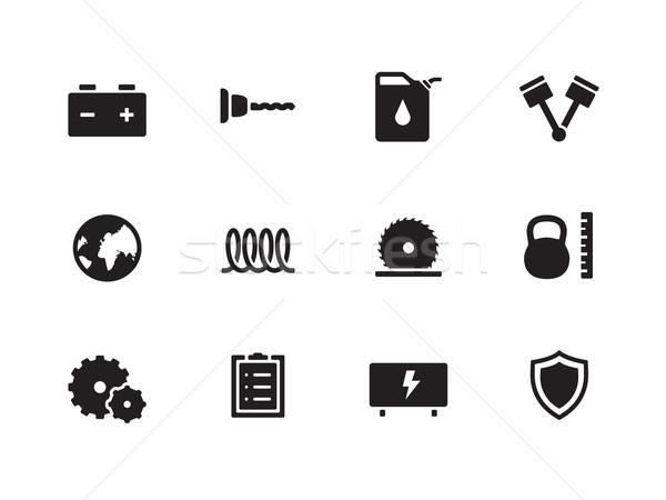Tools icons on white background. Stock photo © tkacchuk
