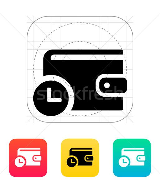 Portafoglio timer icona bianco web finanziare Foto d'archivio © tkacchuk