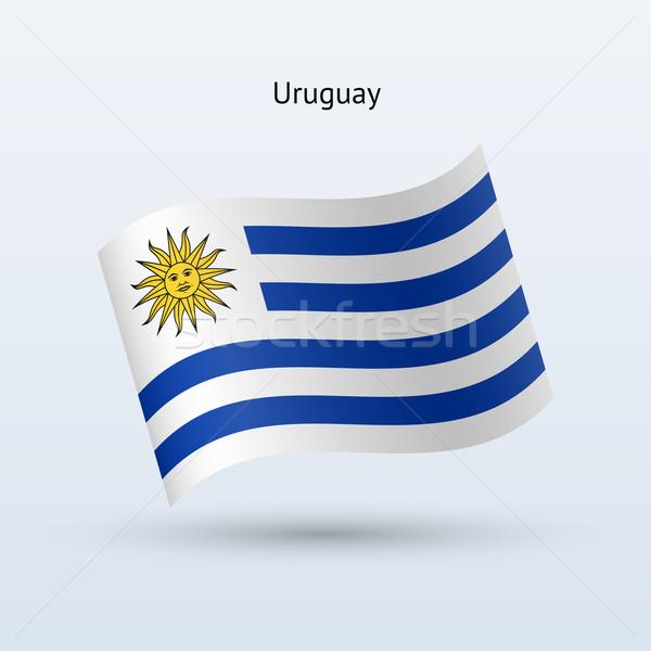 Urugwaj banderą formularza szary podpisania Zdjęcia stock © tkacchuk