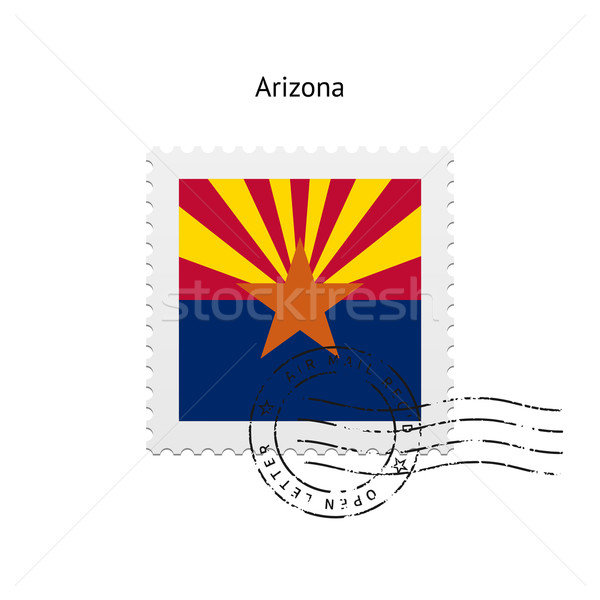State of Arizona flag postage stamp. Stock photo © tkacchuk