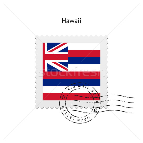 State of Hawaii flag postage stamp. Stock photo © tkacchuk