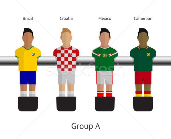 таблице футбола Футбол группа Бразилия Сток-фото © tkacchuk