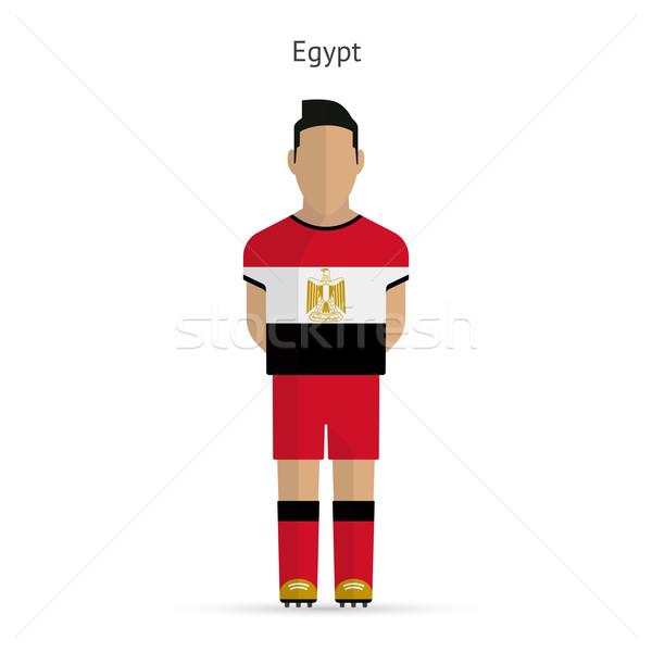 Egypt football player. Soccer uniform. Stock photo © tkacchuk