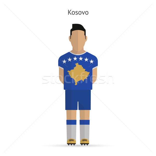Kosovo futebol uniforme abstrato fitness Foto stock © tkacchuk