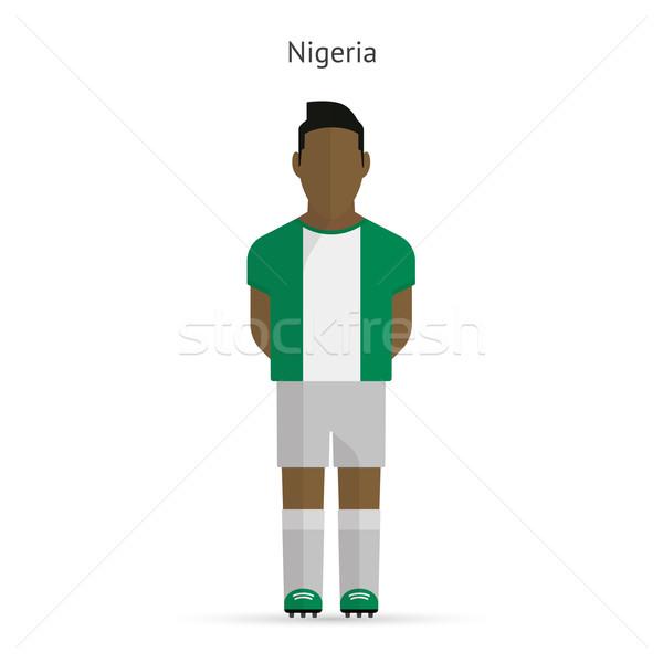 Nigeria piłka nożna uniform streszczenie fitness Zdjęcia stock © tkacchuk