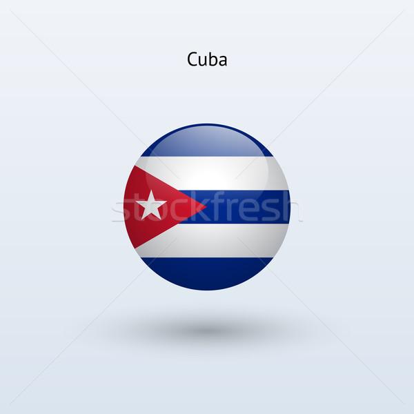 Kuba zászló szürke felirat háló utazás Stock fotó © tkacchuk