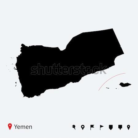 Magas részletes vektor térkép Barbados navigáció Stock fotó © tkacchuk