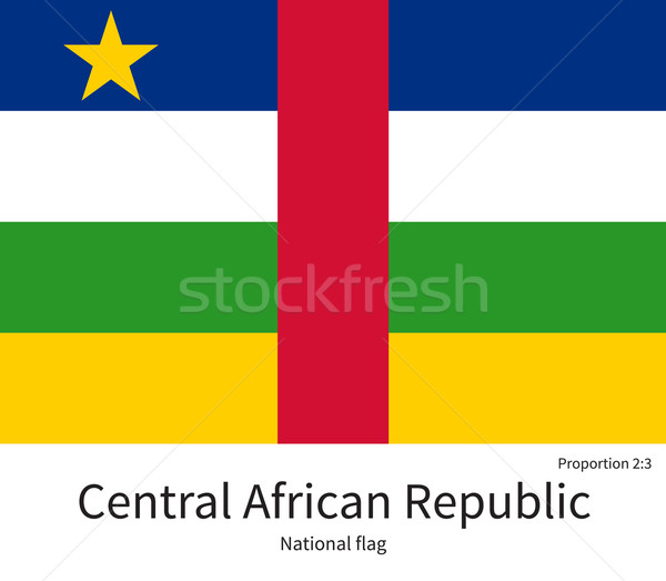National flag of Central African Republic with correct proportions, element, colors Stock photo © tkacchuk