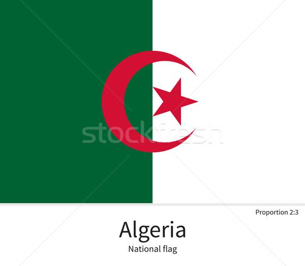 Bandiera Algeria correggere elemento colori istruzione Foto d'archivio © tkacchuk
