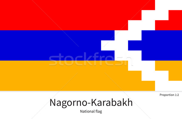 National flag of Nagorno-Karabakh with correct proportions, element, colors Stock photo © tkacchuk