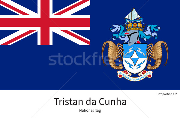 National flag of Tristan da Cunha with correct proportions, element, colors Stock photo © tkacchuk