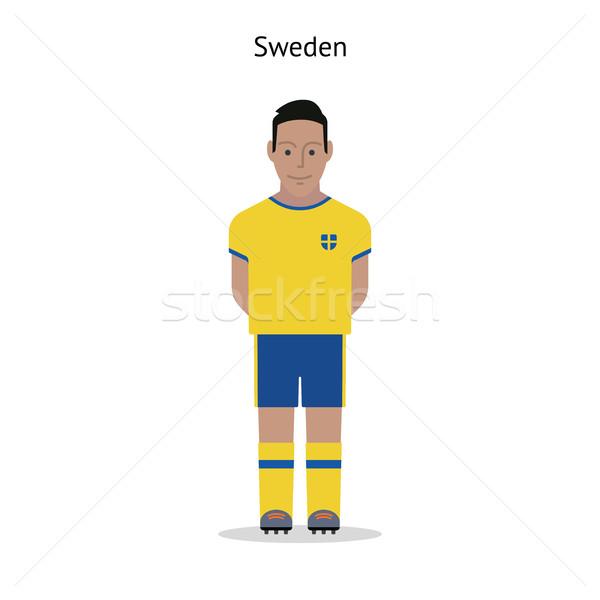Futebol Suécia jogador de futebol forma futebol Foto stock © tkacchuk