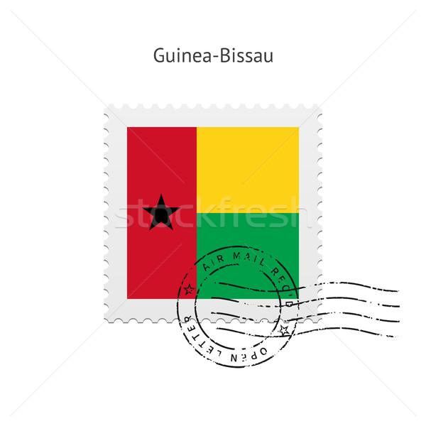 флаг почтовая марка белый знак письме штампа Сток-фото © tkacchuk
