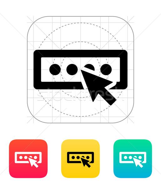 Login hasło ikona Internetu okno internetowych Zdjęcia stock © tkacchuk
