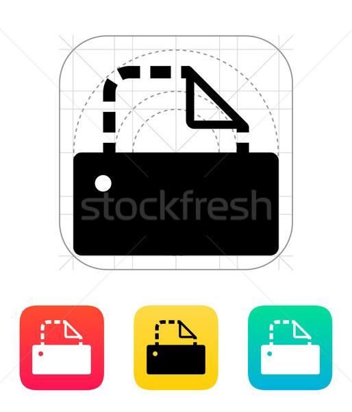 Printer empty icon. Stock photo © tkacchuk