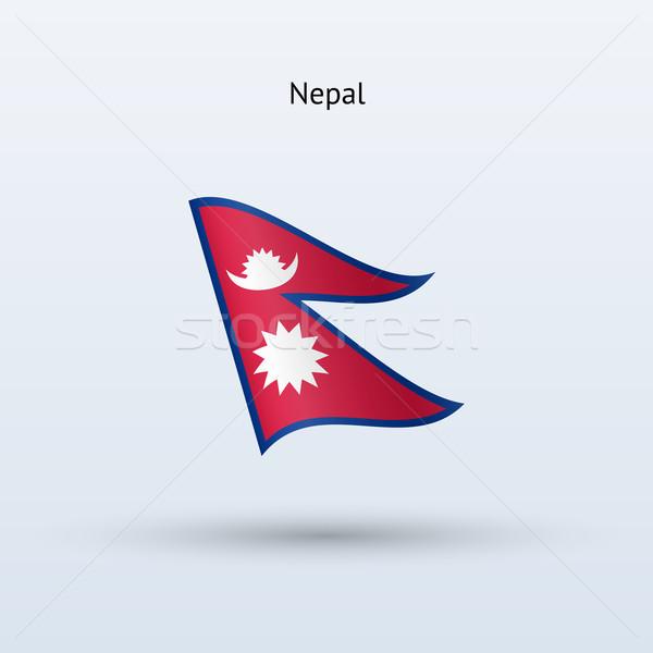 Nepal banderą formularza szary podpisania Zdjęcia stock © tkacchuk