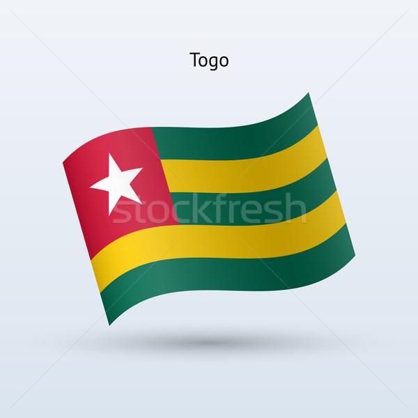 Togo bandiera forma grigio segno Foto d'archivio © tkacchuk
