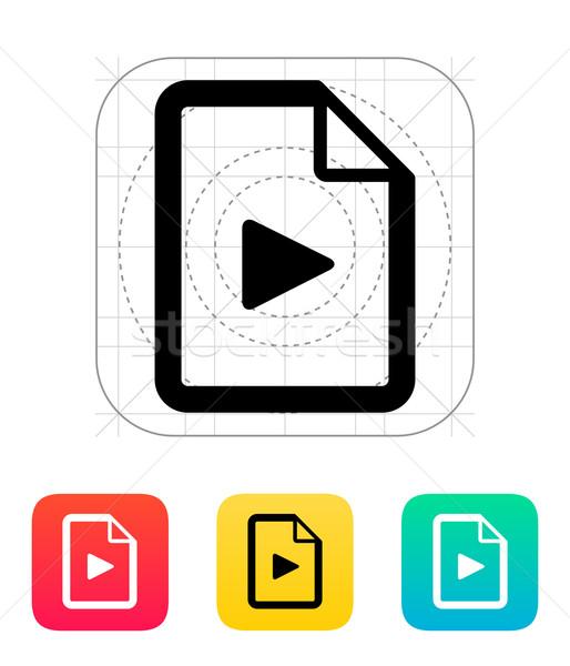 Media file icon. Stock photo © tkacchuk