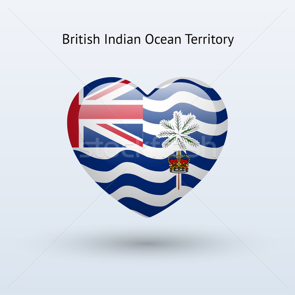 Love British Indian Ocean Territory symbol. Heart flag icon. Stock photo © tkacchuk
