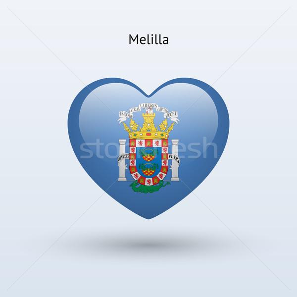 Amour symbole coeur pavillon icône heureux Photo stock © tkacchuk