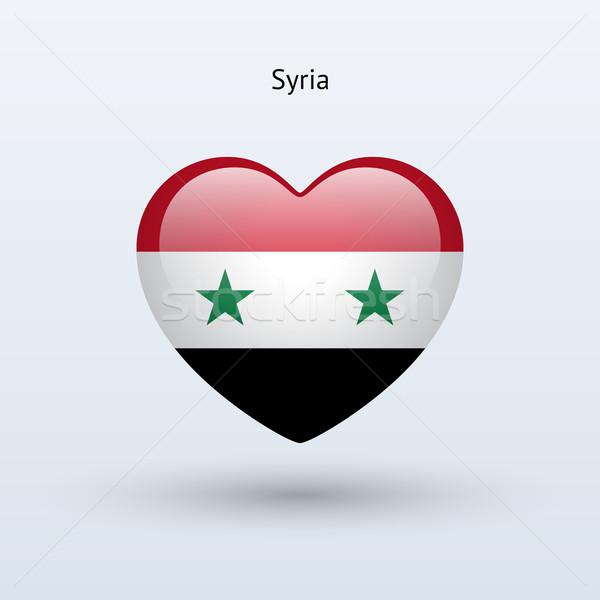 Liefde Syrië symbool hart vlag icon Stockfoto © tkacchuk