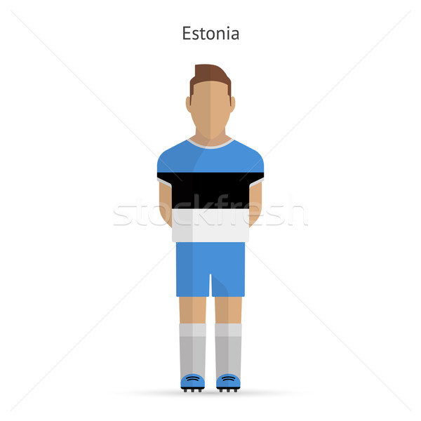 Estonia football player. Soccer uniform. Stock photo © tkacchuk