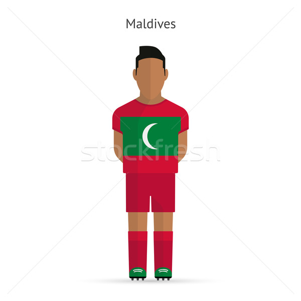 Maldives football player. Soccer uniform. Stock photo © tkacchuk