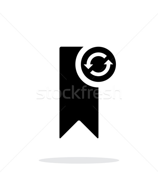Bookmark synchronization simple icon on white background. Stock photo © tkacchuk