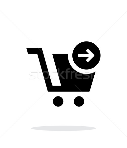 Shopping cart simple icon on white background. Stock photo © tkacchuk