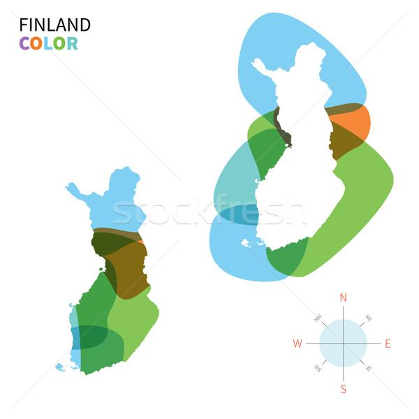 Soyut vektör renk harita Finlandiya şeffaf Stok fotoğraf © tkacchuk