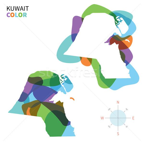 аннотация вектора цвета карта Кувейт прозрачный Сток-фото © tkacchuk