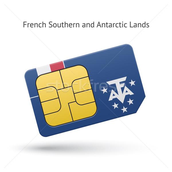 французский южный телефон карт флаг бизнеса Сток-фото © tkacchuk