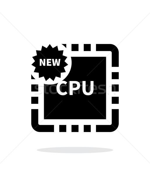 új processzor egyszerű ikon fehér számítógép Stock fotó © tkacchuk