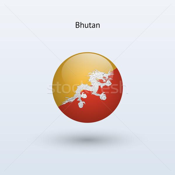 Bhutan vlag grijs teken web reizen Stockfoto © tkacchuk