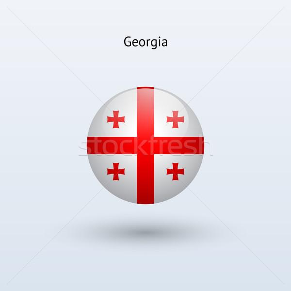 Georgië vlag grijs teken web reizen Stockfoto © tkacchuk