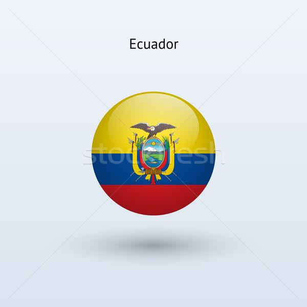 Ecuador round flag. Vector illustration. Stock photo © tkacchuk